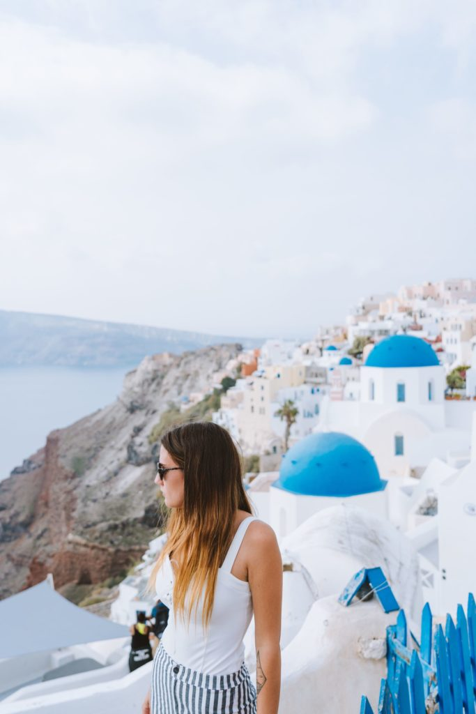 Three blue Domes of Oia